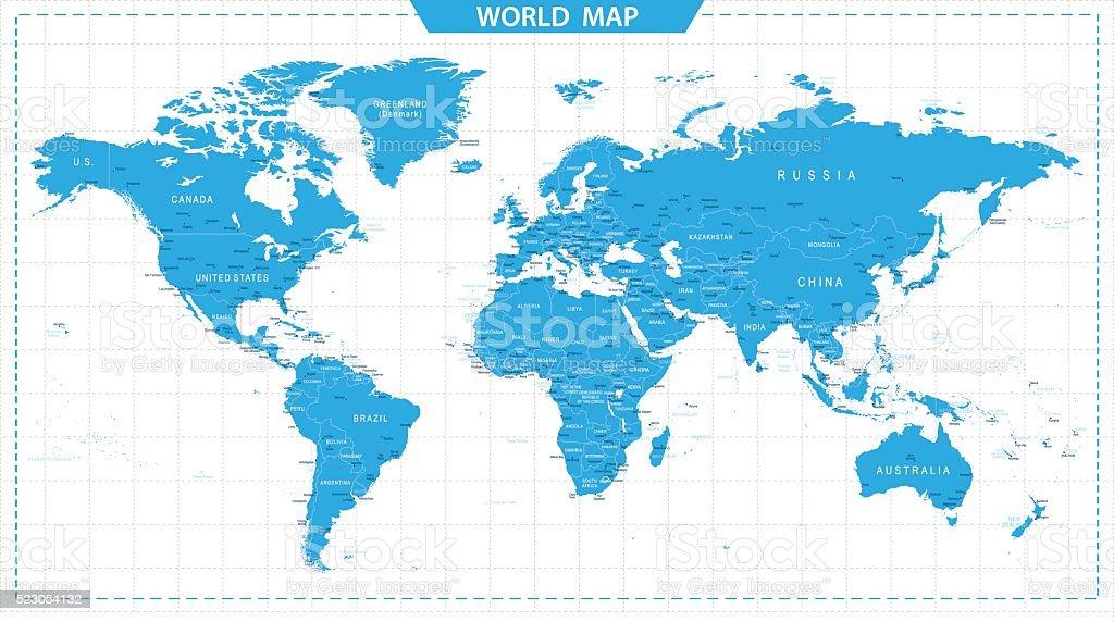 Mapa mundial de-Ilustración - ilustración de arte vectorial