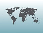 World Map Illustration. Vector.