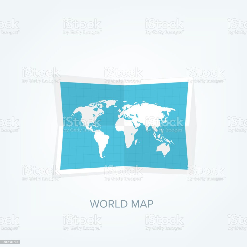 World map in a flat style. Earth, globe. Navigation. Route royalty-free world map in a flat style earth globe navigation route stock vector art & more images of abstract
