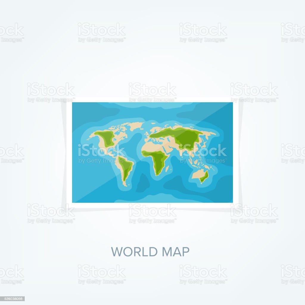 Mapa mundial en estilo plano. Tierra, mundo. Navegación. Ruta ilustración de mapa mundial en estilo plano tierra mundo navegación ruta y más banco de imágenes de abstracto libre de derechos