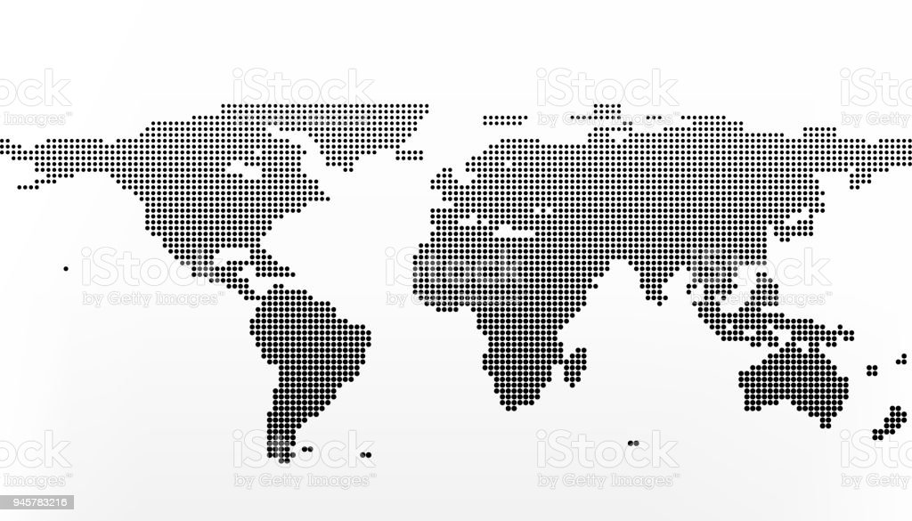 World map in dots earth business concept in flat style isolated on world map in dots earth business concept in flat style isolated on white royalty gumiabroncs Image collections