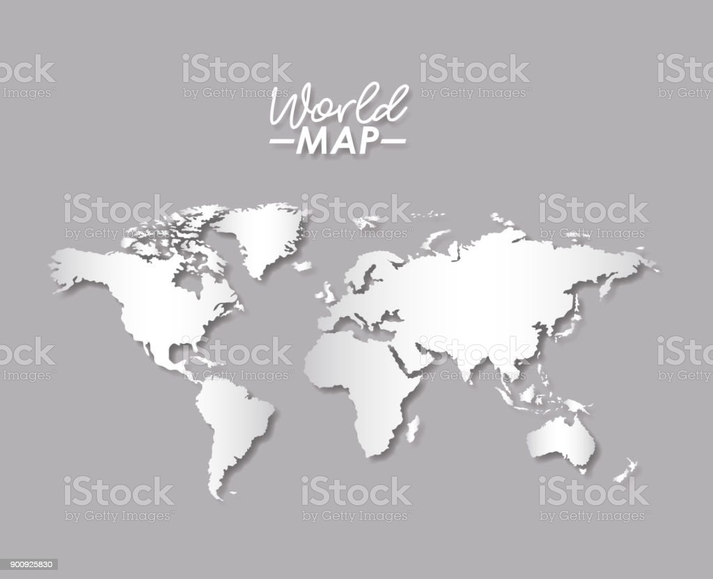 World map in grayscale color silhouette stock vector art 900925830 world map in grayscale color silhouette royalty free stock vector art gumiabroncs Image collections