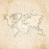 istock World map in retro vintage style - old textured paper 1209750466