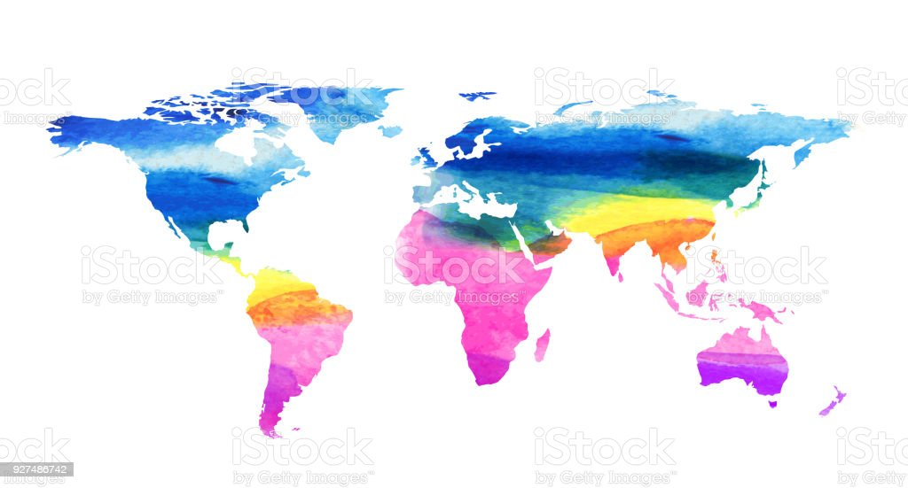 World map in water color style stock vector art more images of world map in water color style royalty free world map in water color style stock gumiabroncs Gallery