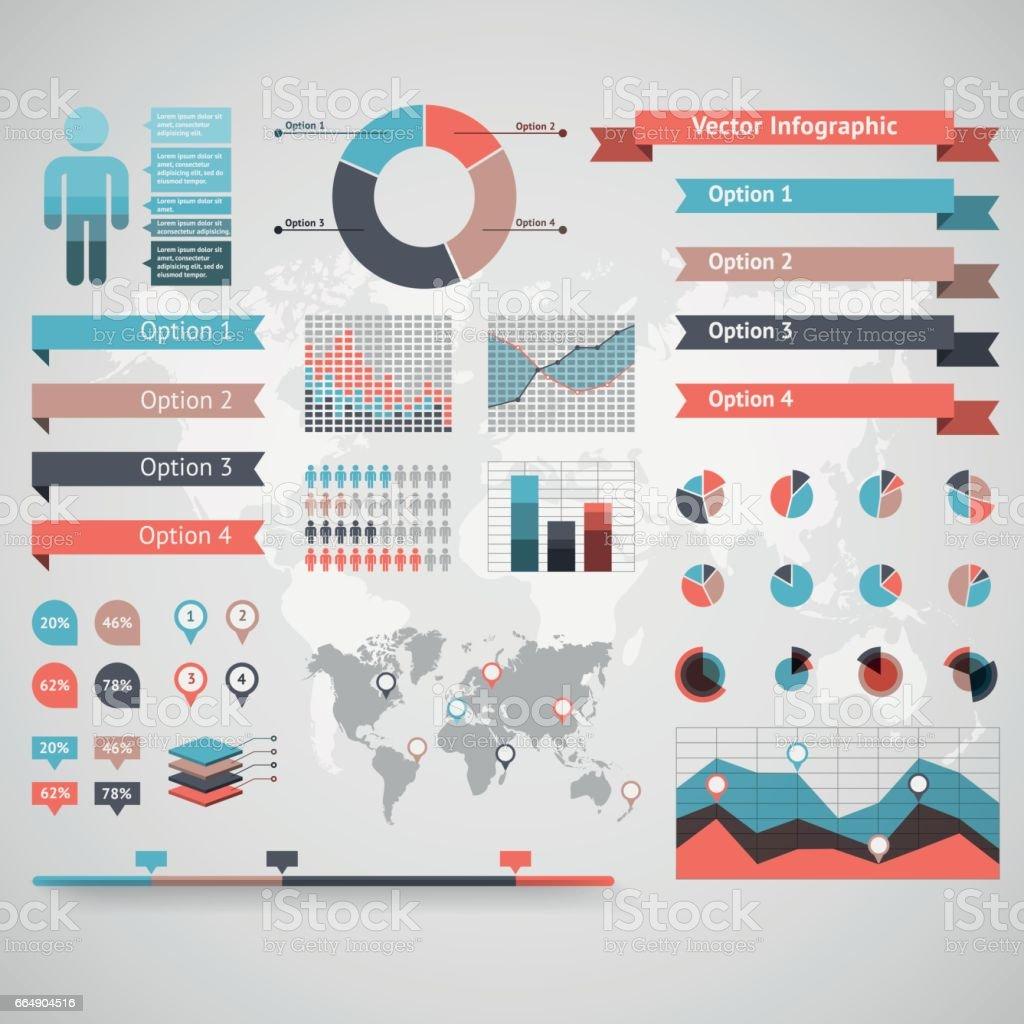 World map infographic. Vector illustration world map infographic vector illustration - immagini vettoriali stock e altre immagini di abbigliamento royalty-free