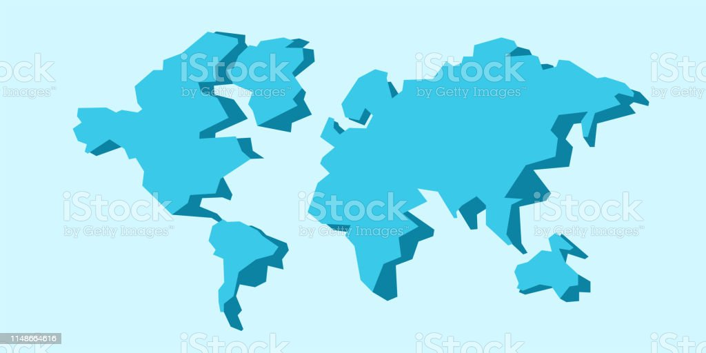 Carte Du Monde Dessin Simple.Carte Du Monde Isolee Carte Stylisee Low Poly Conception De