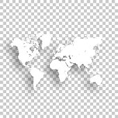 World Map isolated on an blank background, for your own design.