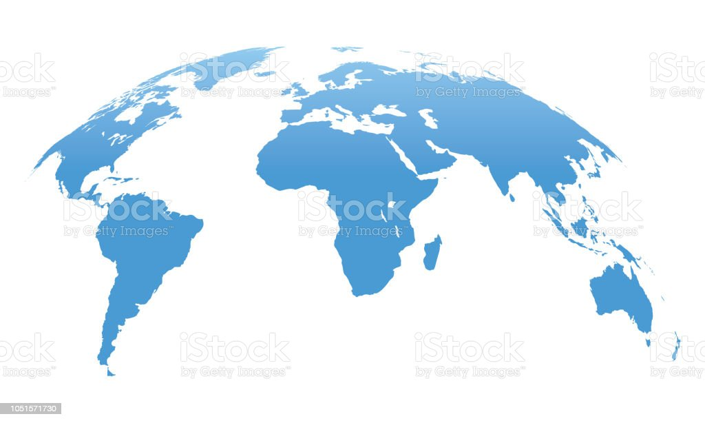 World Map Isolated on White Background. Vector Illustration - Royalty-free Abstrato arte vetorial