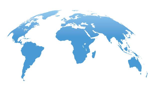 mapa świata odizolowana na białym tle. ilustracja wektorowa - globalny stock illustrations
