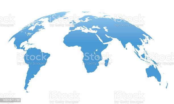 World Map Isolated On White Background Vector Illustration Stock Illustration - Download Image Now