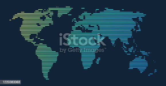 istock World Map Lines Gradient 1220383363