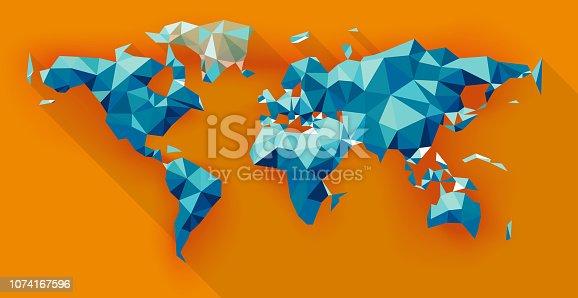 Vector Polygonal World Map
