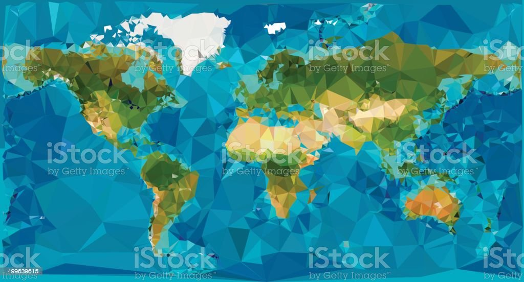 World map low poly stock vector art more images of abstract world map low poly royalty free world map low poly stock vector art amp gumiabroncs Image collections