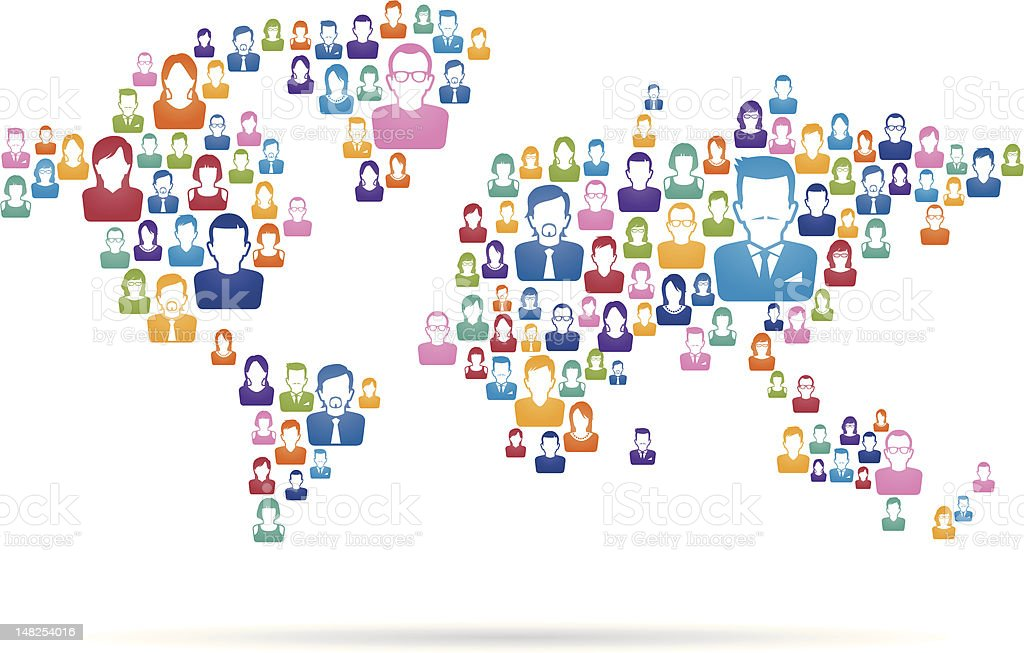 World map made of colorful people icons stock vector art more world map made of colorful people icons royalty free world map made of colorful people gumiabroncs Choice Image