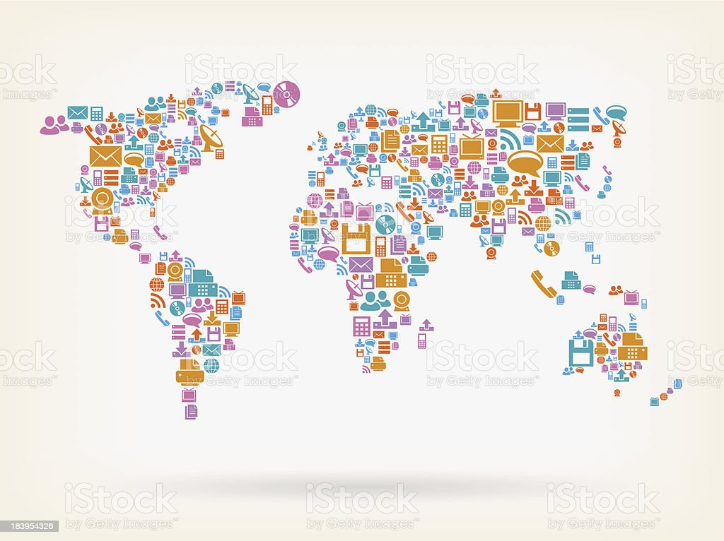 World map made of technology icons stock vector art more images of world map made of technology icons royalty free world map made of technology icons stock gumiabroncs Choice Image