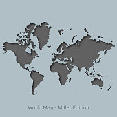 Vector illustration of a Mercator World Map