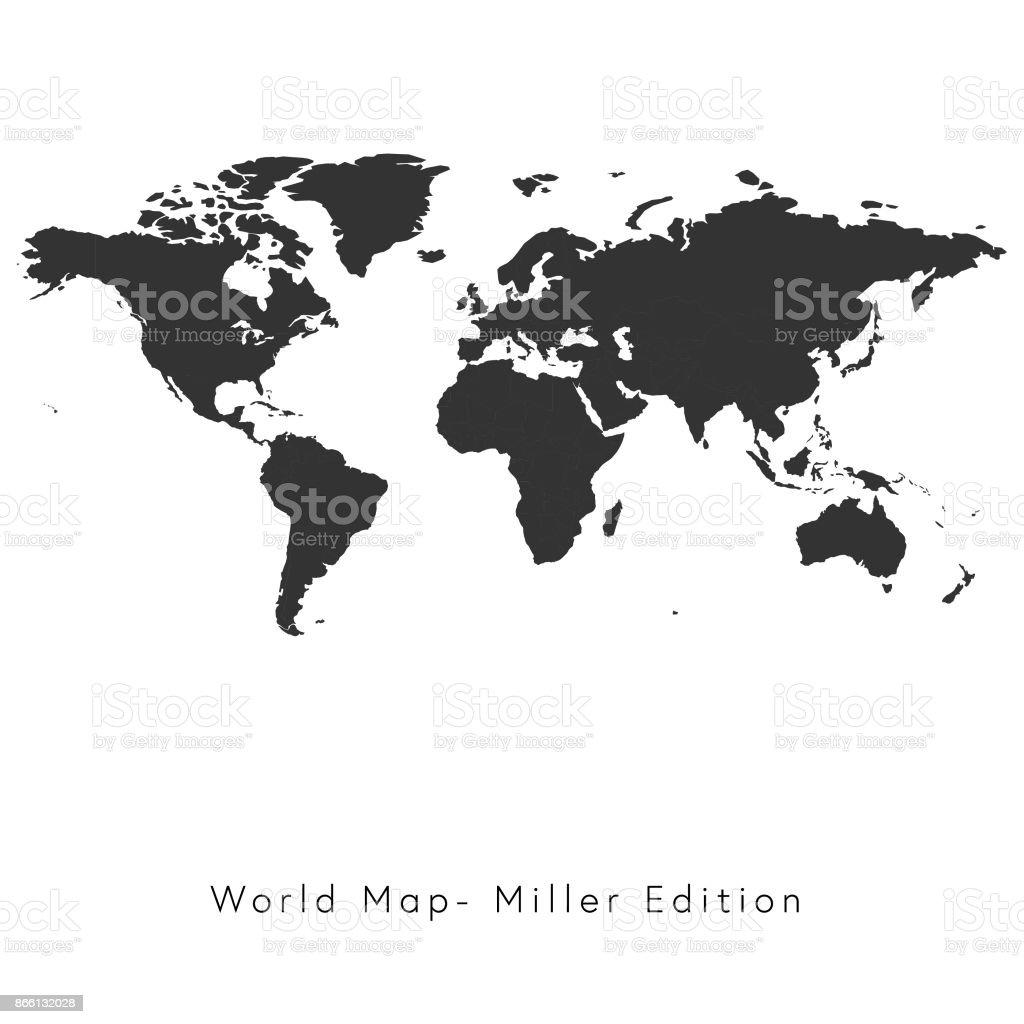 世界地図ミラー版 ベクターアートイラスト