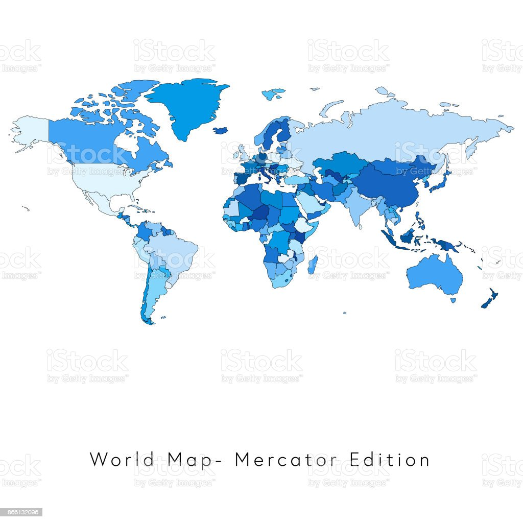World map miller edition stock vector art 866132096 istock world map miller edition royalty free stock vector art gumiabroncs Image collections