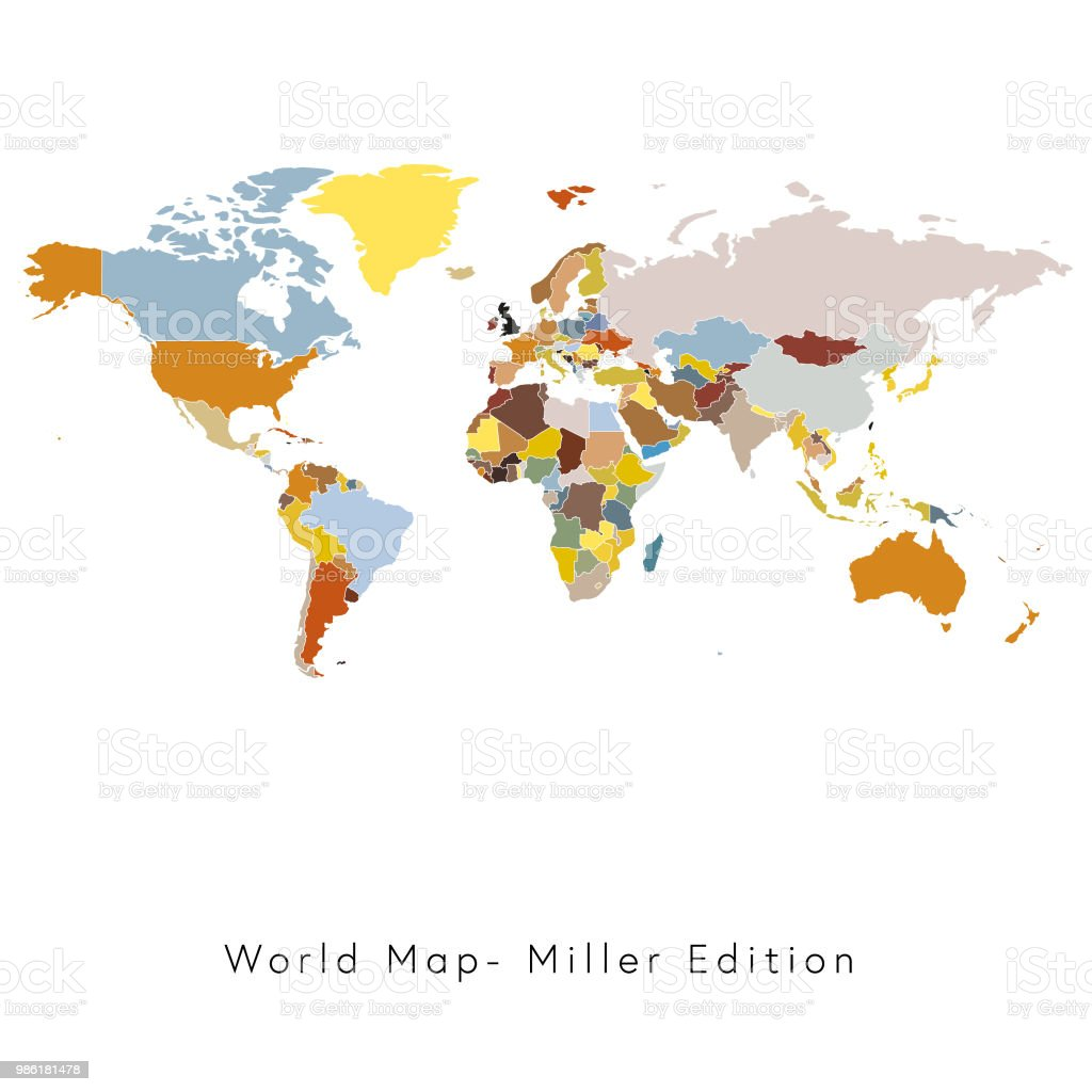 World map miller edition stock vector art more images of business world map miller edition royalty free world map miller edition stock vector art amp gumiabroncs Image collections