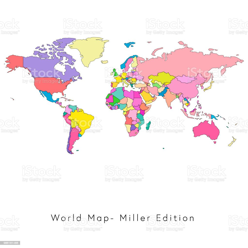 World map miller edition stock vector art more images of africa world map miller edition royalty free world map miller edition stock vector art amp gumiabroncs Image collections