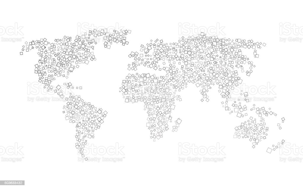World map of black squares stock vector art more images of world map of black squares royalty free world map of black squares stock vector art gumiabroncs Image collections