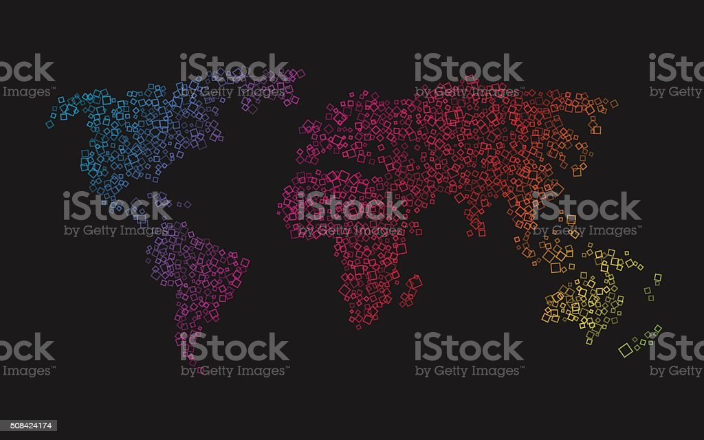 World map of colorful squares stock vector art more images of world map of colorful squares royalty free world map of colorful squares stock vector art gumiabroncs Image collections