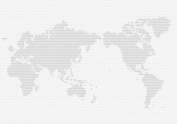 ドット パターンの世界地図 - 地球 日本点のイラスト素材/クリップアート素材/マンガ素材/アイコン素材