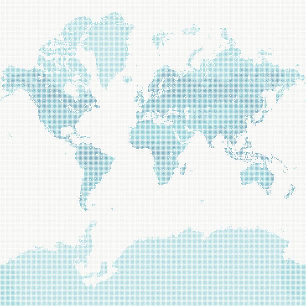 World Map of Dots – Vektorgrafik
