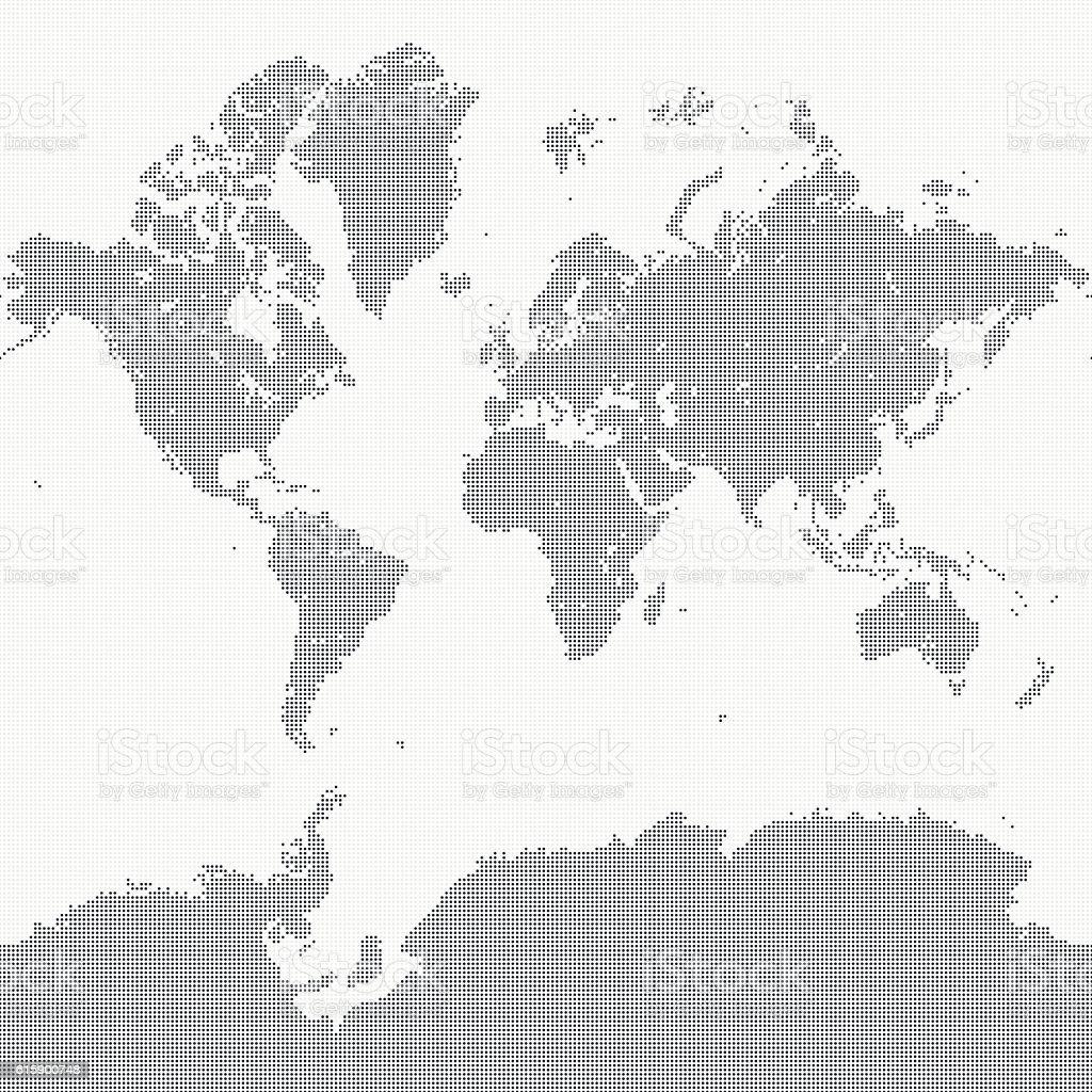 World Map of Dots - ilustración de arte vectorial
