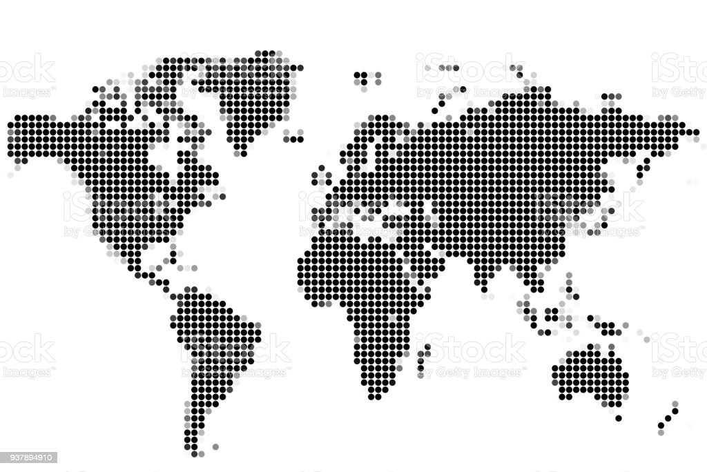 World map of round dots stock vector art more images of abstract world map of round dots royalty free world map of round dots stock vector art gumiabroncs Gallery