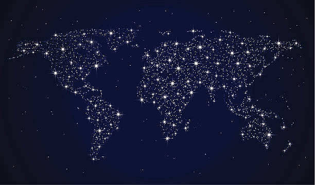 World map night clip art vector images illustrations istock vector vector art illustration world map of stars vector art illustration sciox Choice Image