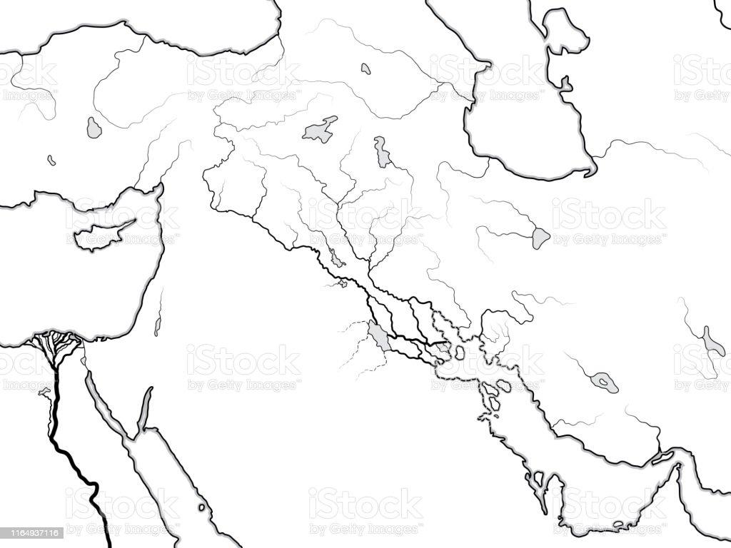 World Map Of The Tigris Euphrates Valley Mesopotamia Assyria ...
