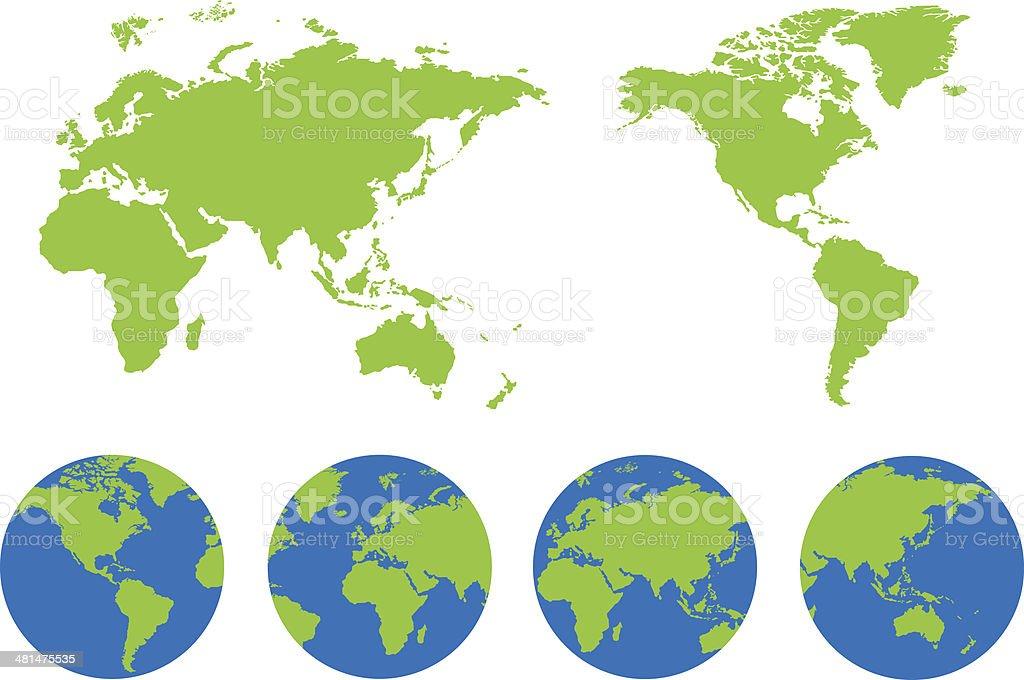 World map of vector royalty-free stock vector art
