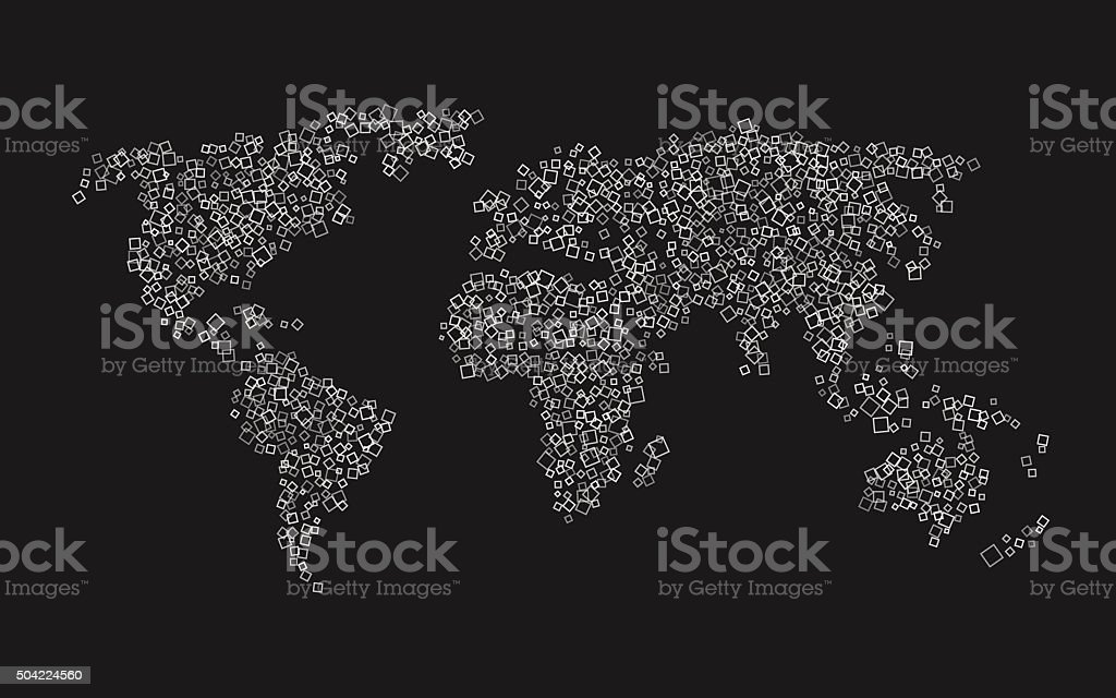 World map of white squares on black background stock vector art world map of white squares on black background royalty free stock vector art gumiabroncs Image collections
