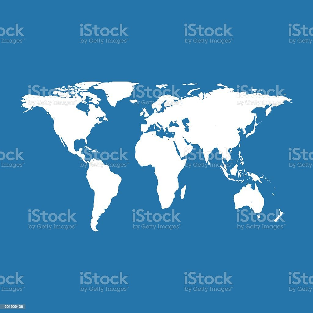 Ilustracin de world map on blue background vector illustration y world map on blue background vector illustration ilustracin de world map on blue background vector gumiabroncs