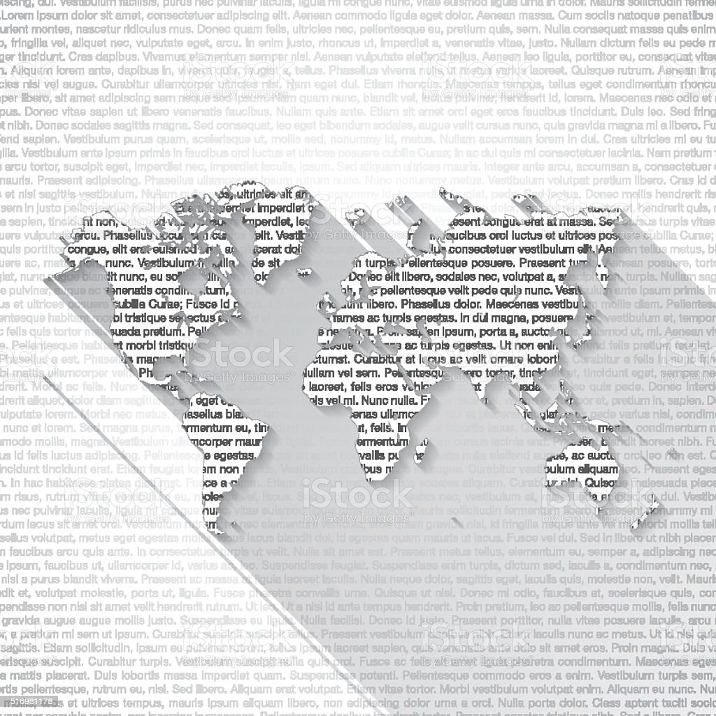 World map on text background long shadow stock vector art more world map on text background long shadow royalty free world map on text background gumiabroncs Gallery