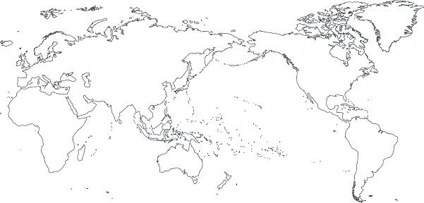 World Map Outline with Countries | World map | Pinterest ... |Earth Map Outline