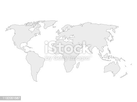 Outline World Map Pdf and Vector Eps vector file for free ...