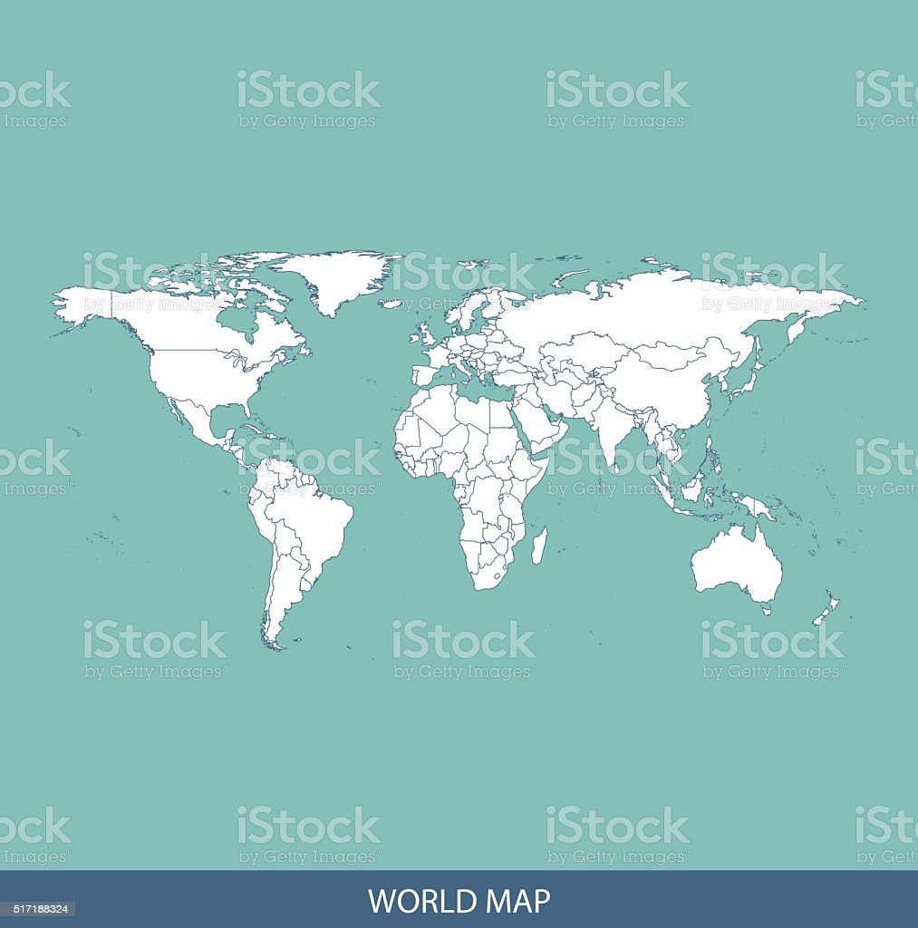World map outline vector with countries borders arte vectorial de world map outline vector with countries borders world map outline vector with countries borders arte gumiabroncs Choice Image