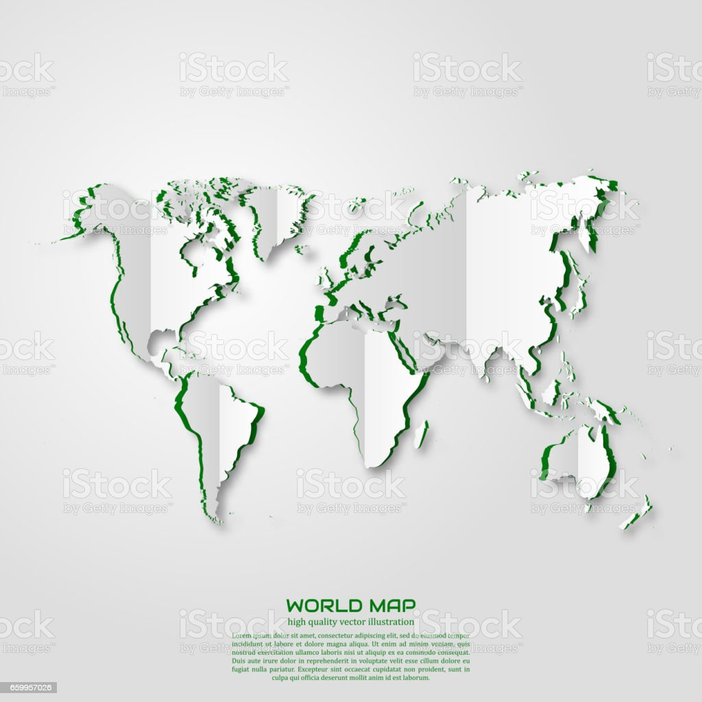 World map paper art style projects template for business vector art world map paper art style projects template for business vector art and illustration gumiabroncs Gallery