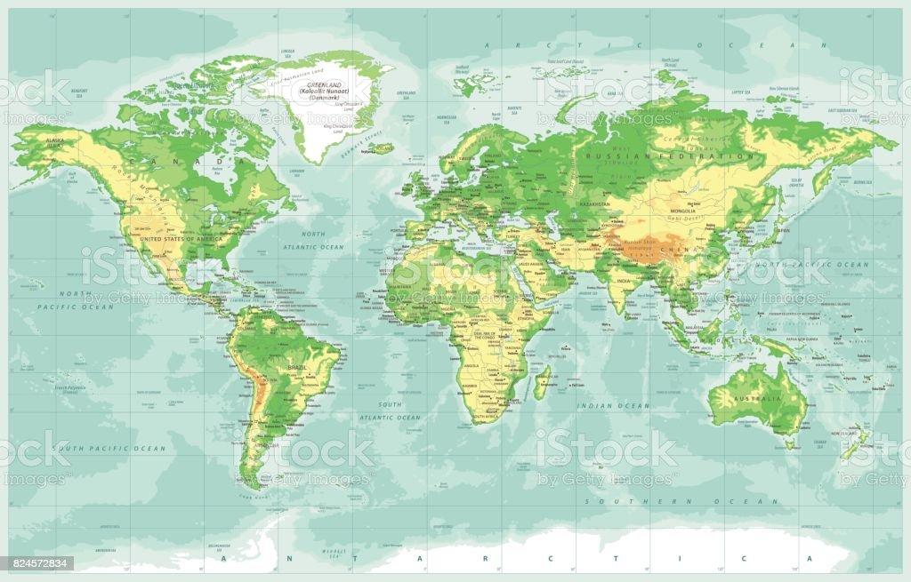 World map physical vector stock vector art 824572834 istock world map physical vector royalty free stock vector art gumiabroncs Gallery