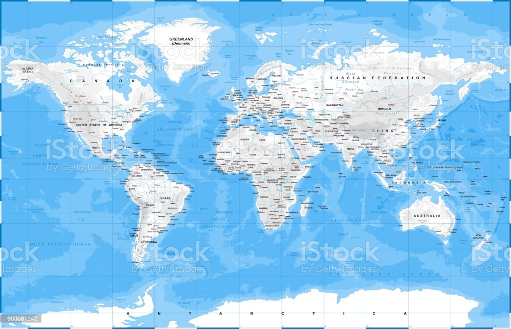 World map physical white vector stock vector art more images of world map physical white vector royalty free world map physical white vector stock vector gumiabroncs Gallery