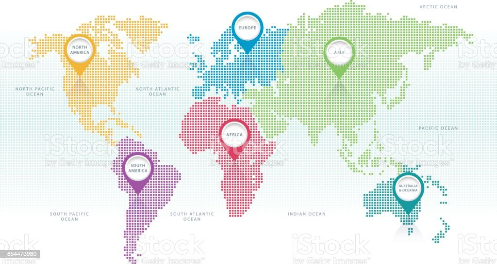 World map pixel color stock vector art more images of art world map pixel color royalty free world map pixel color stock vector art amp gumiabroncs Choice Image