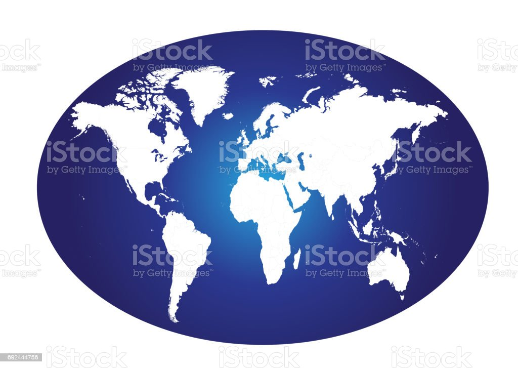 World map planet Earth vector art illustration