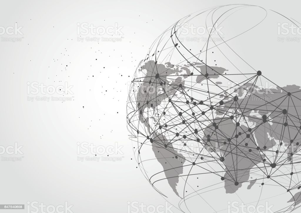World map point line composition representing the global global world map point line composition representing the global global network connection gumiabroncs Image collections