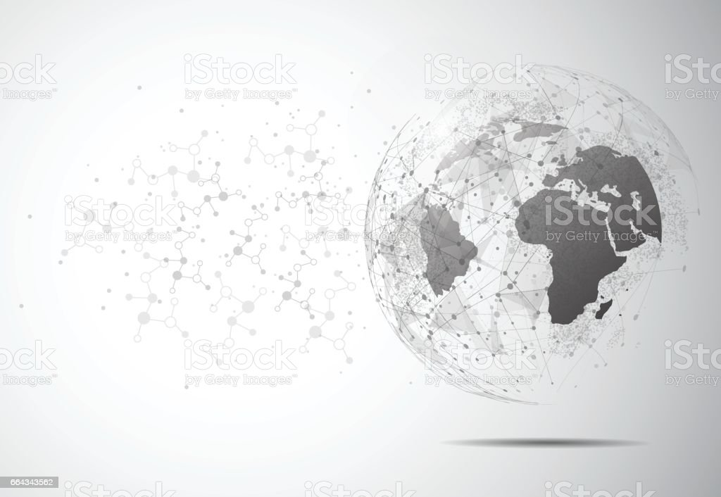Drawing Lines In Mappoint : World map point line composition representing the global