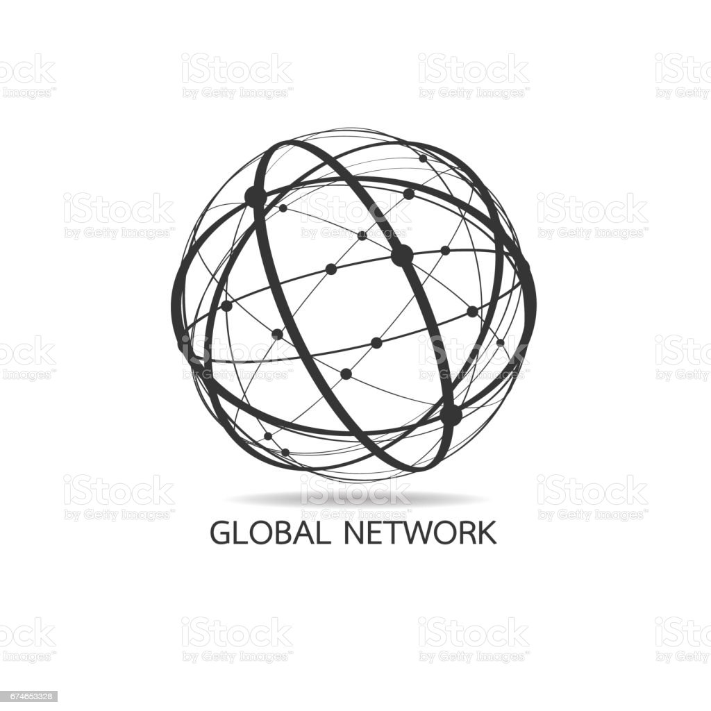 World map point, line, composition, representing the global, Global network connection,international meaning. vector art illustration