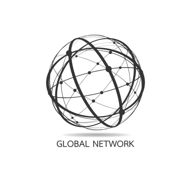 world map point, line, composition, representing the global, global network connection,international meaning. - global communications stock illustrations, clip art, cartoons, & icons