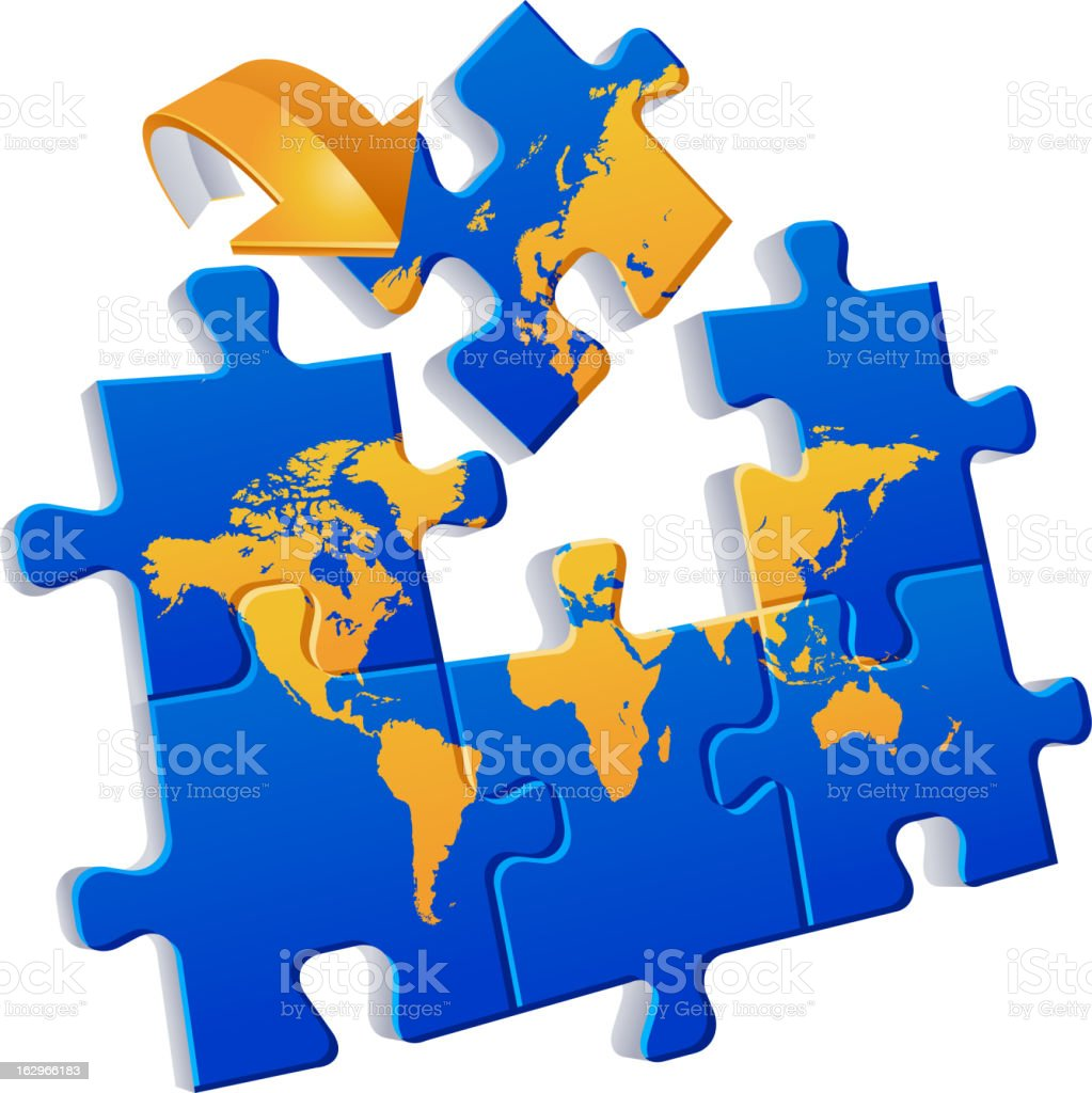 World map puzzle global communications stock vector art more world map puzzle global communications royalty free world map puzzle global communications stock vector art gumiabroncs Images