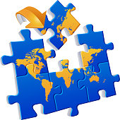 World map Puzzle Global Communications